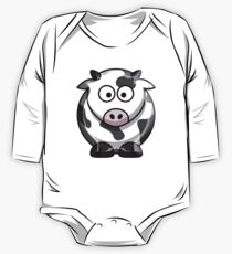COW, Moo Cow, Cartoon, Cattle One Piece - Long Sleeve