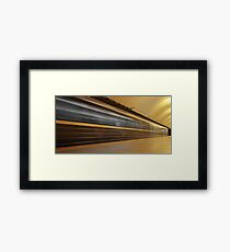speed train in motion Framed Print