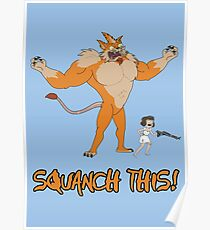 Rick and Morty – Squanch This! Poster