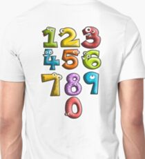 LEARN, NUMBERS, teach, Counting, Count, Cartoon, Learning to count Unisex T-Shirt