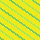 Diagonal Chartreuse Stripes by Betty Mackey