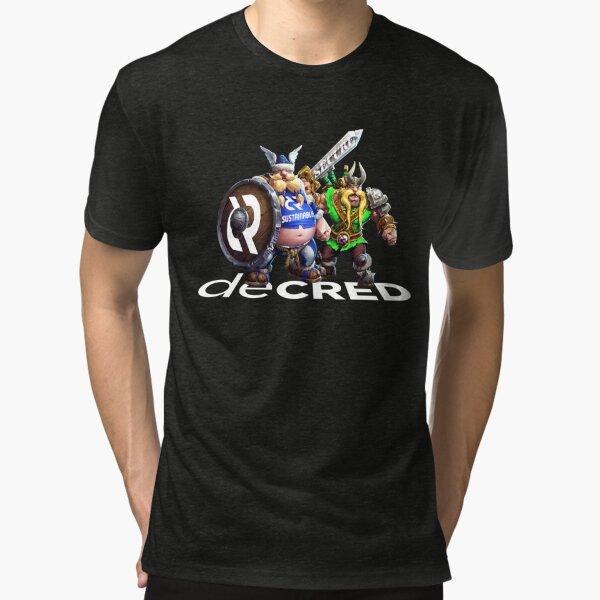 Decred Vikings © v1 (Design timestamped by https://timestamp.decred.org/) Tri-blend T-Shirt
