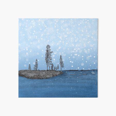 First Snow in Lapland - Lapland8seasons Art Board Print