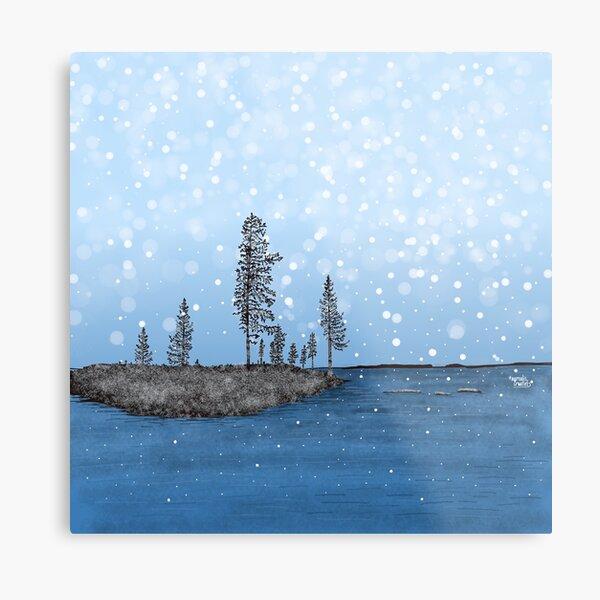 First Snow in Lapland - Lapland8seasons Metal Print