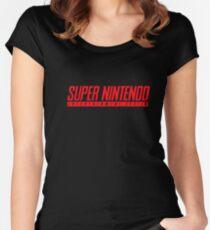 Camiseta entallada de cuello redondo Camiseta Super Nintendo
