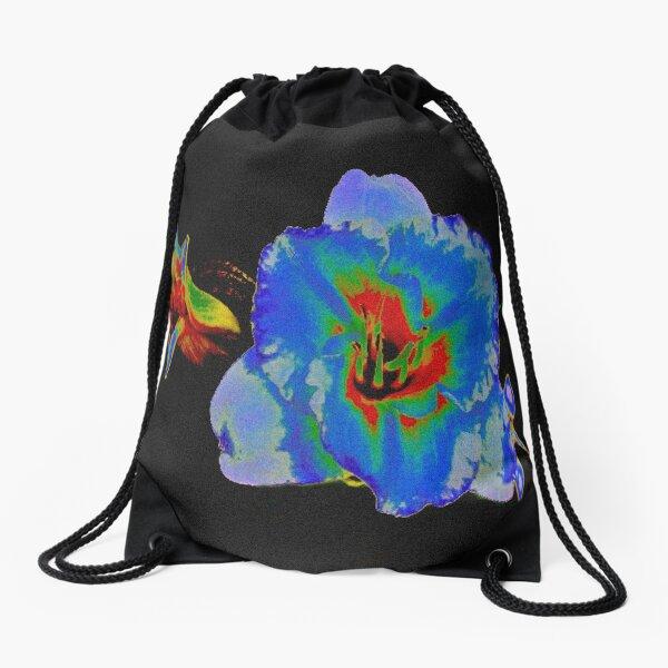 Colourful modern flower design Drawstring Bag
