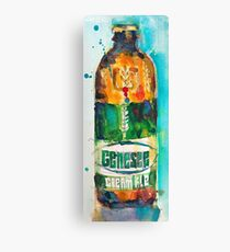 Genesee Cream Ale Beer Art Print - Original Watercolor  Canvas Print