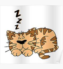 DOG, Sleeping, pet, Cartoon, ZZZ, K9, Canine Poster