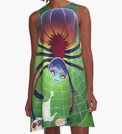 Spider Snack A-Line Dress