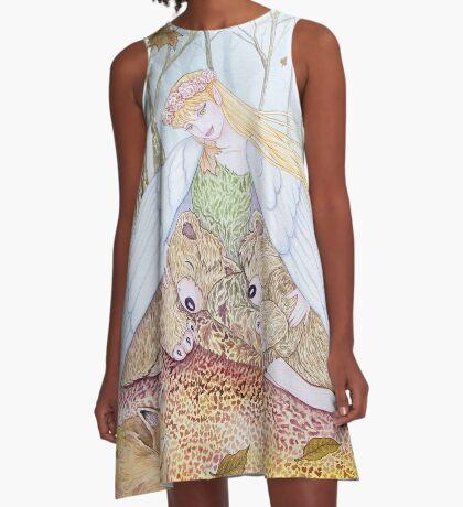 Autumn Breeze A-Line Dress