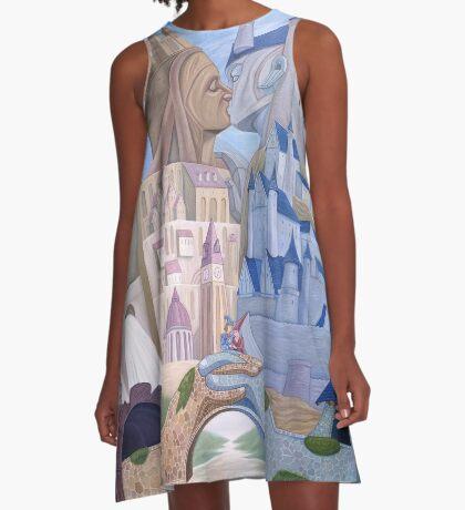 Castle Kiss A-Line Dress