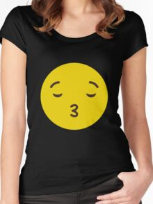EMOJI - EMOTION LOVELY FUNNY 2016 Women's Fitted Scoop T-Shirt