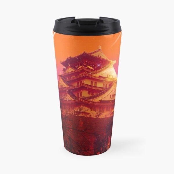 Japan night Hiroshima Vaporwave Travel Mug