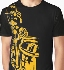 Saxophone Keywork Graphic T-Shirt