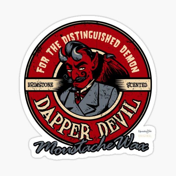 Dapper Devil Moustache Wax Sticker