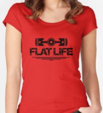 Flat Life (6) Women's Fitted Scoop T-Shirt