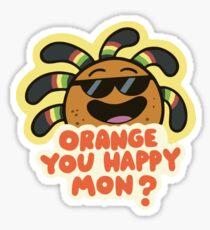 Mabel Stickers | Gravity Falls | Orange You Happy Mon? Sticker