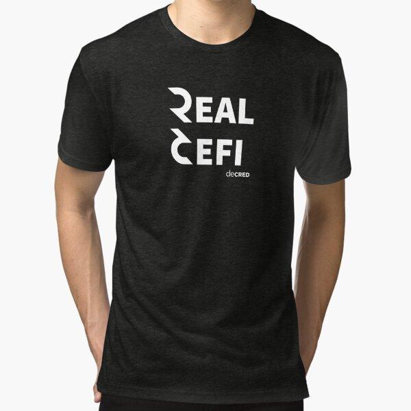 Decred Real Defi © v1 (Design timestamped by https://timestamp.decred.org/) Tri-blend T-Shirt