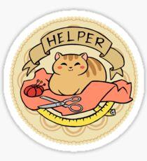 Cat Helper Sticker