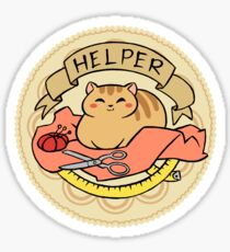 Cat Helper Sticker