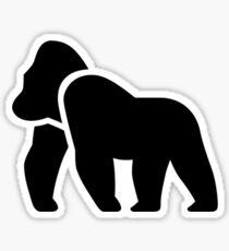 Gorilla Silhouette Sticker