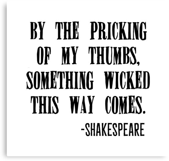 """Shakespeare Halloween Quotes: """"Shakespeare Halloween Quote"""" Canvas Prints By"""