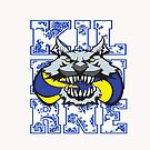Worthington Wolves Water Polo - Paisley by Gregory Colvin