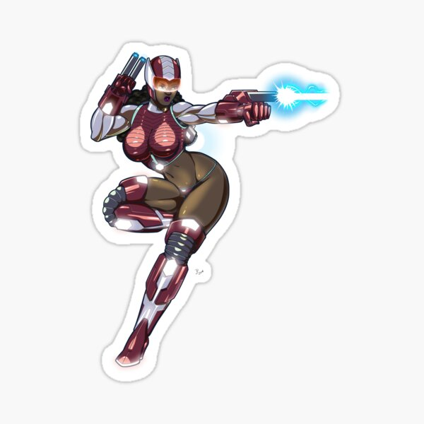 Sexy Space Fighter Sticker