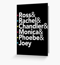 Friends TV Show Helvetica Greeting Card