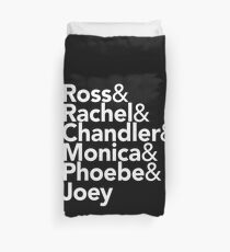 Friends TV Show Helvetica Duvet Cover