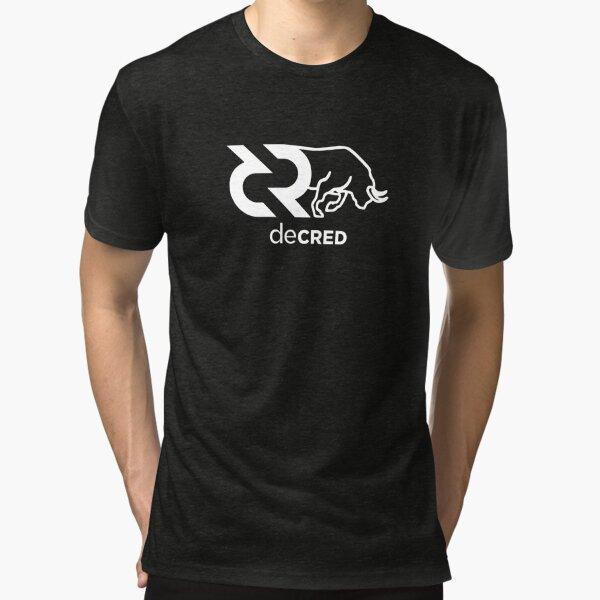 Decred Bull © v1 (Design timestamped by https://timestamp.decred.org/) Tri-blend T-Shirt