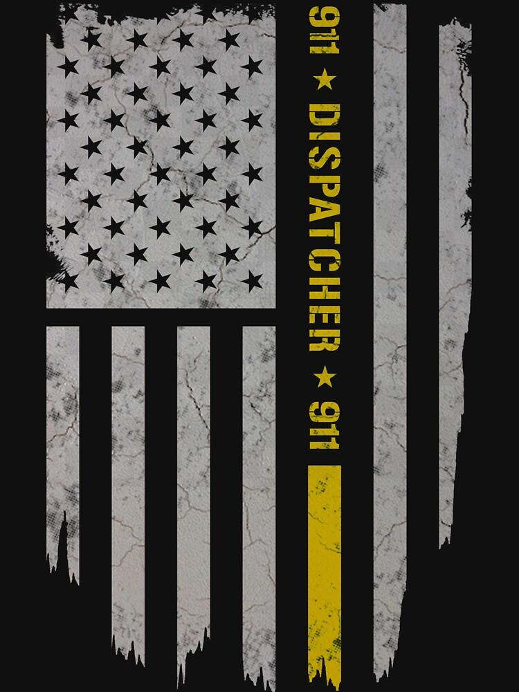 Quot 911 Dispatcher Thin Gold Line Quot T Shirt By Blueshop