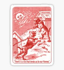 Squeezer (red bulldog playing cards) Sticker