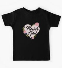 Flower Girl Roses Pink Heart Kids Clothes