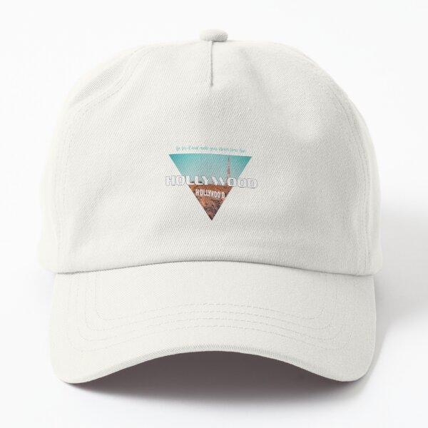 simple hollywood sign roadtrip Dad Hat