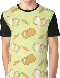 Cute Guinea Pig Pattern Graphic T-Shirt