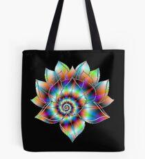 Psychedelic Lotus Tote Bag