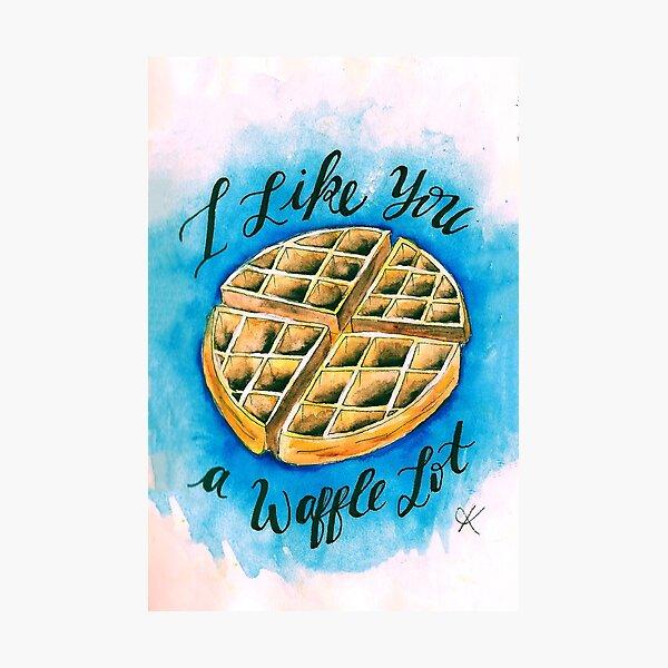 Waffle  Photographic Print