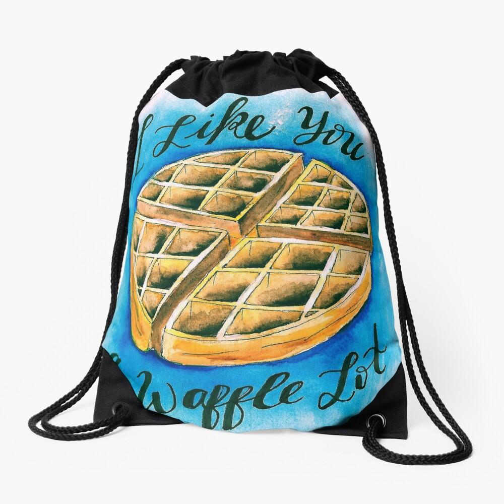 Waffle  Drawstring Bag