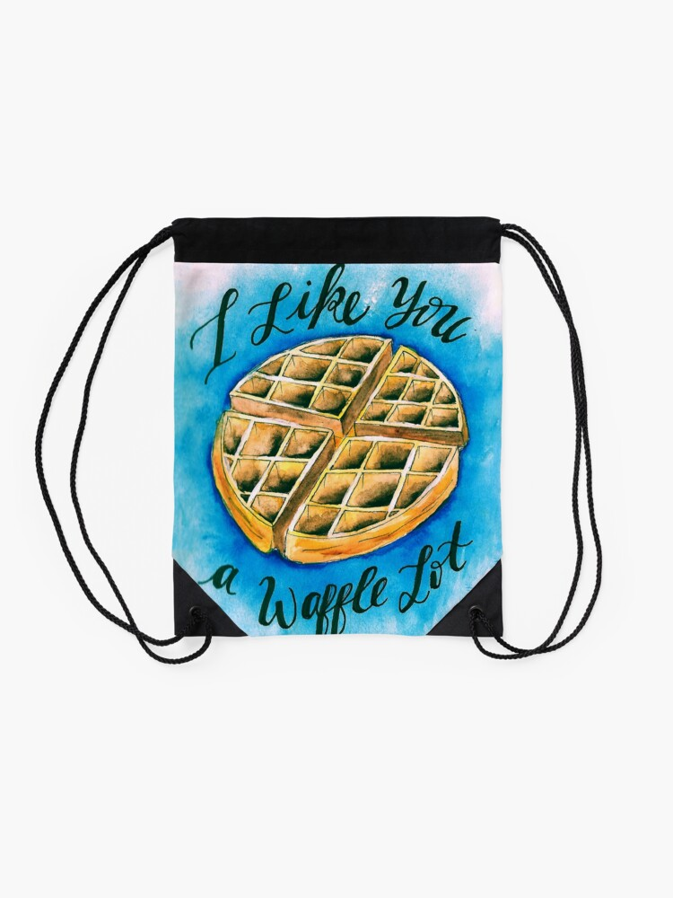 Alternate view of Waffle  Drawstring Bag