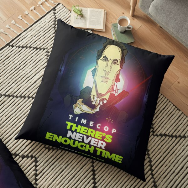 Time Cop - There is never enough time! Floor Pillow