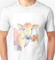Farm house cow watercolor Unisex T-Shirt