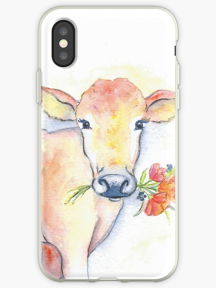 Farm House Cow Watercolor Iphone Cases Covers By Christierenfro