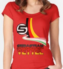 Sebastian Vettel - 5 - Germany Women's Fitted Scoop T-Shirt