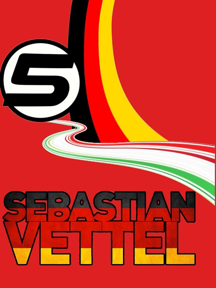 Sebastian Vettel - 5 - Germany | Unisex T-Shirt