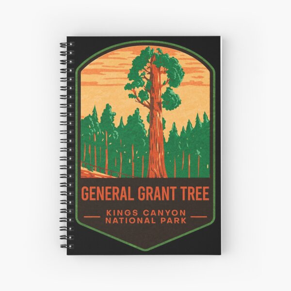 General Grant Tree Kings Canyon National Park Spiral Notebook