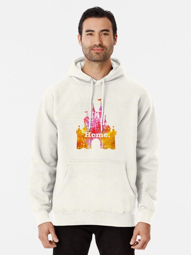 Alternative Ansicht von Schloss Pink / Gelb Glitter Hoodie