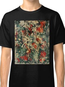 Abstract Green & Red Classic T-Shirt