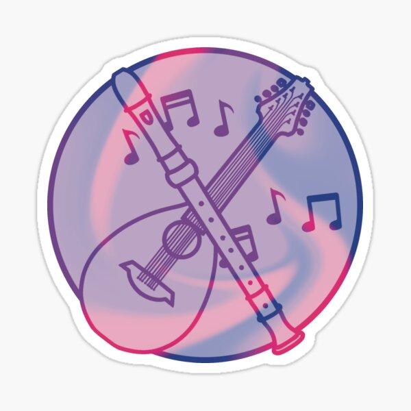 Bisexual Bard Symbol Sticker