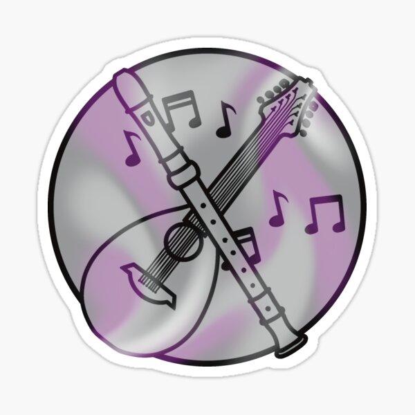 Asexual Bard Symbol Sticker